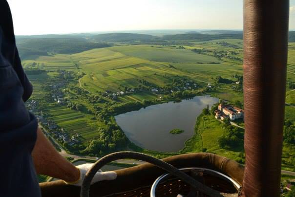 Hot air balloon flight over Lviv regions castles